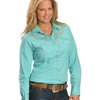 Ariat Shelby Embroidered Rhinestone Yoke Long Sleeve Top - Sheplers