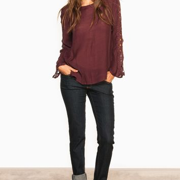 ShopSosie Style : Aubery Blouse in Plum