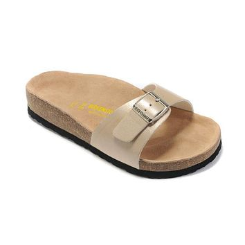 Birkenstock Madrid Sandals Artificial Leather Beige - Ready Stock