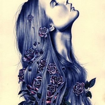 Bloom Art Print by KatePowellArt | Society6