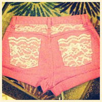 Pink lac shorts  by AngeliqueMerici on Etsy