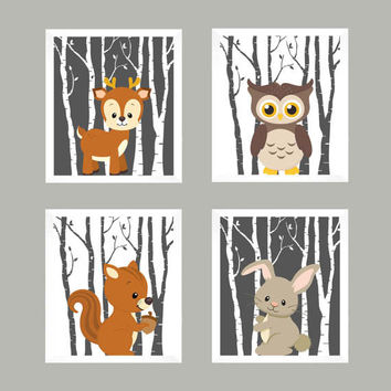 Baby Decor, Woodland Nursery, Baby Print, Nursery Print, Animal Print, Nursery Decor, Forest Animals, Woodland Animals, Wall Art, Wall Decor