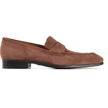 Santoni classic penny loafers