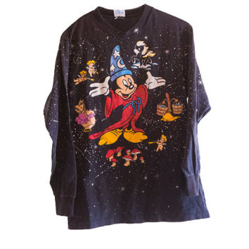 Vintage Fantasia 50th Anniversary Long Sleeved T-shirt on Black Size Medium M