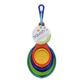 Squish™ 41008 Collapsible Measuring Cup, Multi Color, 4 Piece
