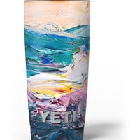 Abstract Oil Strokes Yeti Rambler Skin Kit