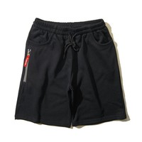 Cotton Summer Embroidery Zippers Casual Shorts Beach Pants Sportswear [11010764103]