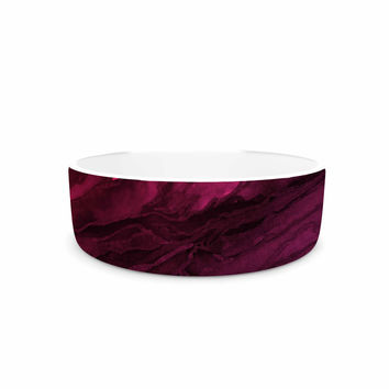 "Ebi Emporium ""Agate Magic - Red Pink Plum"" Deep Purple Pet Bowl"