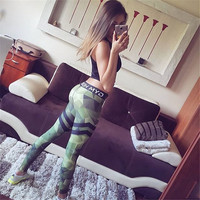Winter Sports Hot Sale Camouflage Gym Women's Fashion Pants [9245966212]