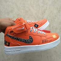 """Nike Air Force 1"" Unisex Casual Fashion Letter High Help Plate Shoes Couple Sneakers"