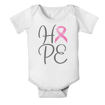 Hope - Breast Cancer Awareness Ribbon Baby Romper Bodysuit