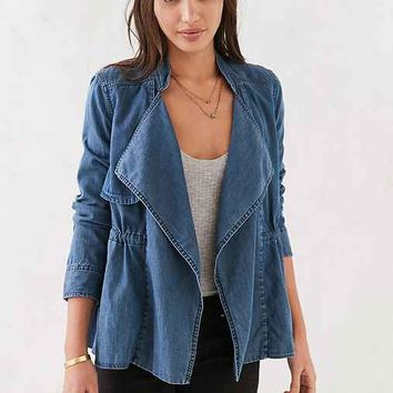 Silence + Noise Kirra Swing Chambray Trench Coat