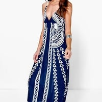 Evelyn Mono Coin Back Maxi Dress