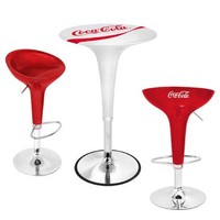 Lumisource Coca-Cola Gelato Bar Table In White And Red