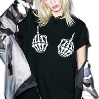 Burger And Friends Boney Fingers Tee Black