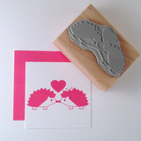 Hedgehogs in Love Rubber Stamp