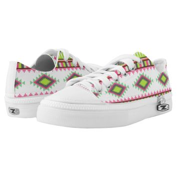Geometric tribal aztec andes hipster navaj pattern printed shoes