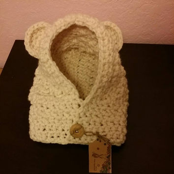 Free Shipping Bear Hood with Cowl Made to Order