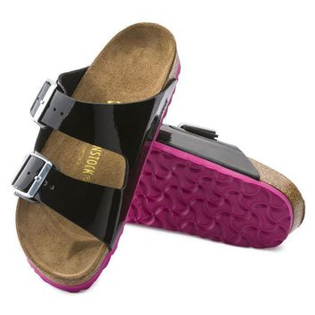 Sale Birkenstock Arizona Birko Flor Patent Black Patent 652643 Sandals