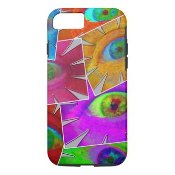 Eye Flowers Collage iPhone 7 Case