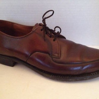 Wall Streeter Shoes Mens Size 9.5 M Brown Oxford Lace Up 9 1/2 Leather Vintage