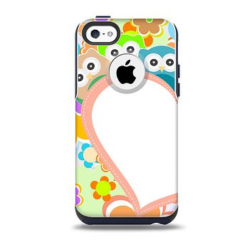 The Cartoon Owls with Big Heart Skin for the iPhone 5c OtterBox Commuter Case