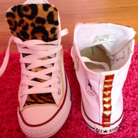 Leopard tongue Converse