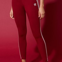 adidas Adicolor Burgundy 3-Stripes Leggings at PacSun.com