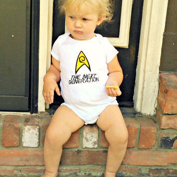 Star Trek Engineering Badge Onesuit baby layette The Next Generation