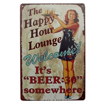 "It's ""Beer:30"" Metal Pub Wall Garage Home Chic Deco Shop Vintage Sign Tin Plaque = 1946251588"