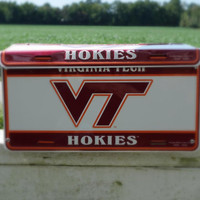 Virginia Tech Hokies License Plate Wall Mount Mailbox