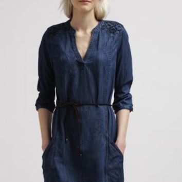 edc by Esprit Denim dress - medium blue - Zalando.co.uk