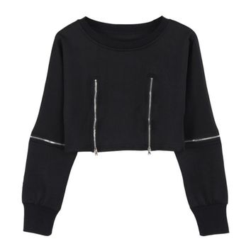 Women Punk Gothic Women Crop Top