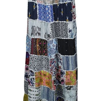 Womens Patchwork Skirt Sweet Spinner Girl Vintage Indian Inspired Ethnic Swirl Style Long Skirts: Amazon.ca: Clothing & Accessories