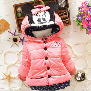 Infant Minnie Mouse Hooded Down Coat