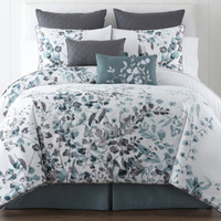 Liz Claiborne® Silhouette Floral 4-pc. Comforter Set & Accessories