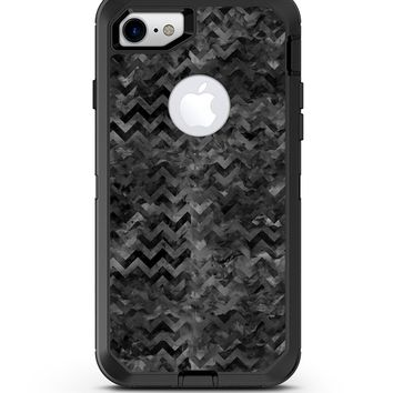 Black Basic Watercolor Chevron Pattern - iPhone 7 or 8 OtterBox Case & Skin Kits