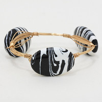 Adorn by LuLu- Black and White Wired Bracelet