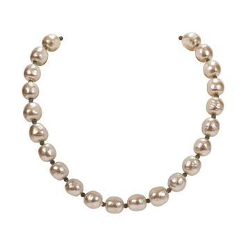 Pre-owned 50's Miriam Haskell Pearl Collar Necklace