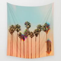 Glitch beach Wall Tapestry by Shorsh