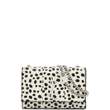 Saint Laurent Kate Monogram Small Dot Snakeskin Chain Crossbody Bag