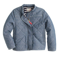 crewcuts Girls Chambray Quilted Jacket
