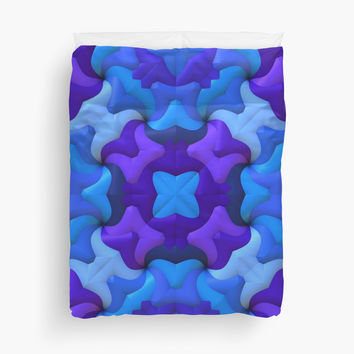'Blues and Purples' Duvet Cover by Lyle Hatch