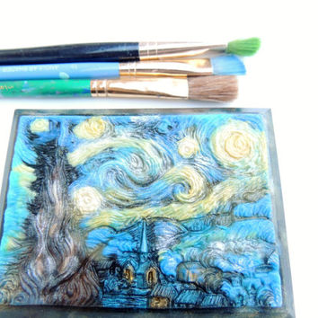 ARTISTIC SOAP, TCF Original - For the Art Lover, Vincent van Gogh - Starry Night 1889, Scented in Serenity, Vegetable Based Handmade