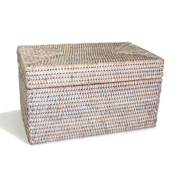 BAM007- WW Rectangular Storage Basket with Lid