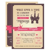 Princess Fairy Tale First Birthday Invitation