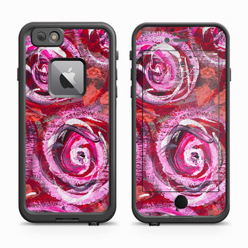 Abstract Rose Floral Print Skin for the Apple iPhone LifeProof Fre Case