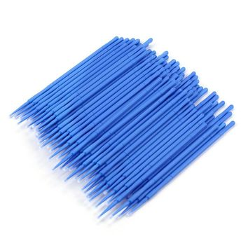 100Pc/ Bottle Microblading Micro Brushes Swab Lint Free Tattoo Permanent Supplies JU11