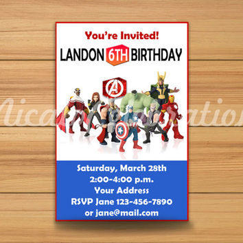 Avengers Design Invitation - Digital File