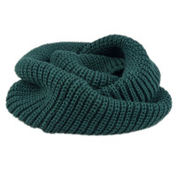 Olive Knit Funnel Snood